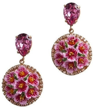 Dolce & Gabbana Floral Pendant Earrings