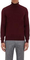 Luciano Barbera Men's Wool Turtleneck Sweater-RED