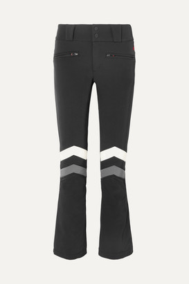 Perfect Moment Aurora Flare Striped Ski Pants - Black