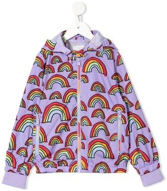 Stella McCartney Kids Scribble Rainbow raincoat