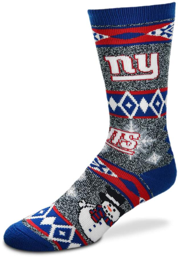 93e24a74 Adult New York Giants Team Ugly Holiday Crew Socks