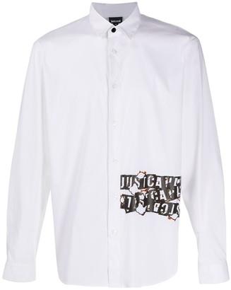 Just Cavalli Burning Logo-Print Shirt