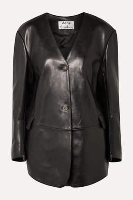 Acne Studios Lexa Oversized Leather Jacket - Black