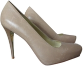 Balmain Beige Leather Heels