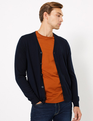 Marks and Spencer Pure Extra Fine Merino Wool V-Neck Cardigan