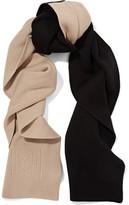 Totême Elvas Two-Tone Merino Wool And Cotton-Blend Scarf