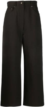Acne Studios Wide-Leg Straight Trousers