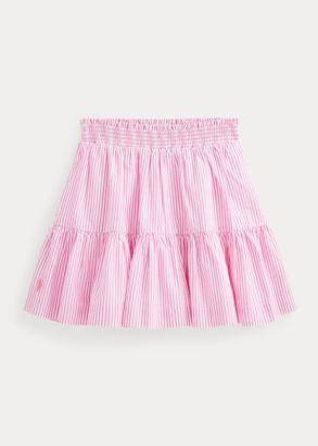 Ralph Lauren Striped Cotton Seersucker Skirt