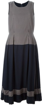 Comme Des Garçons Pre Owned Two-Tone Pleated Dress