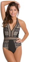 Red Carter Griffin VNeck One Piece Swimsuit - 8124188
