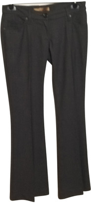 Daniele Alessandrini Grey Wool Trousers for Women