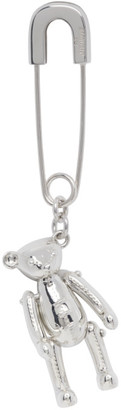 Ambush Silver Single Teddy Bear Charm Earring