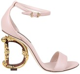 Dolce & Gabbana Powder Color Leather Devotion Sandal
