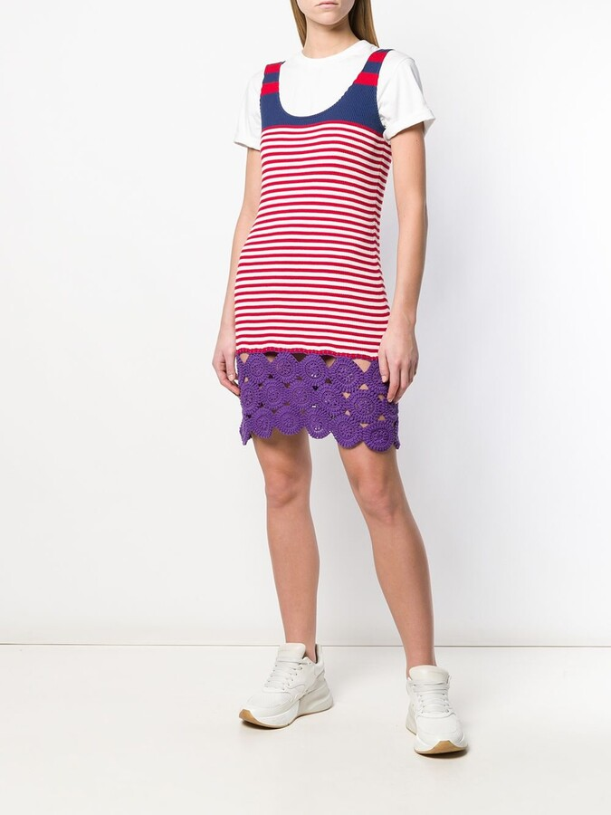 Thumbnail for your product : Prada Pre-Owned 1990's Striped Knitted Dress