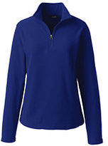 Lands' End Women's Lightweight Fleece Half-zip-Red