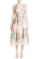 Lela Rose Women's Floral Jacquard Fil Coupe Dress
