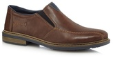 Rieker Tan Leather Slip-on Shoes