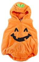 EGELEXY Kids Toddler Baby Halloween Cute Pumpkin Fancy Costume Comfy Jumpsuit Orange 12 to 18 Months