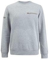 Burton Mens Grey Zip Detail Sweatshirt