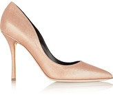 Rupert Sanderson Ariel Glitter-finished Leather Pumps - Bronze