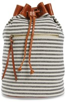 Sole Society Maisee Stripe Fabric Backpack - Black