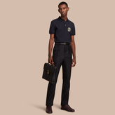 Burberry Pallas Heads Appliqué Cotton Polo Shirt