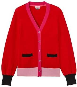 Gallery Colorblocked Cashmere Cardigan