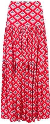 Libelula Emma Skirt Red Star Diamond Print