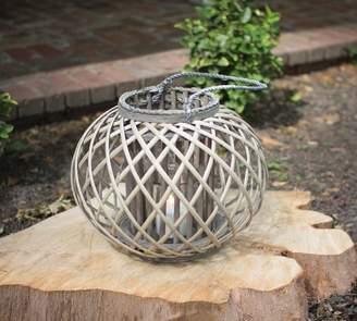 Pottery Barn Round Willow Lanterns - Gray