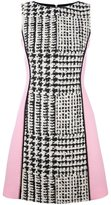 Fausto Puglisi tweed panel mini dress