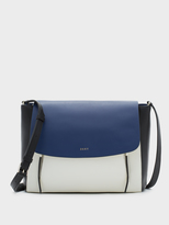 DKNY Colorblock Smooth Leather Messenger