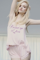 Wildfox Couture Dressed Up In Love Cami Pajama Set in Blushing Bride