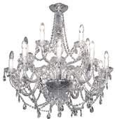 clear 4 Light Crystallic Pendant Chandelier, Glass,