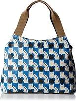 Orla Kiely Poppy Cat Print Classic Zip Shoulder Bag