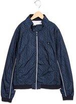 Armani Junior Boys' Zip-Up Windbreaker Jacket