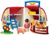 Playmobil 1.2.3 Take Along Barn with Animals