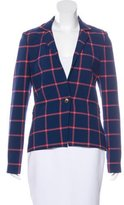 Thakoon Checkered Narrow Lapel Blazer