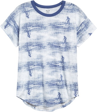 Madewell Wave Rider Whisper Cotton Crewneck Graphic Tee