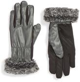 URBAN RESEARCH Tech Faux Fur Cuff Tech Gloves