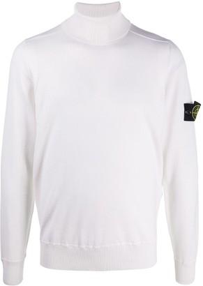 Stone Island Logo-Patch Roll Neck Sweater