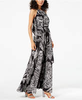 INC International Concepts I.n.c. Petite Printed Halter Maxi Dress, Created for Macy's