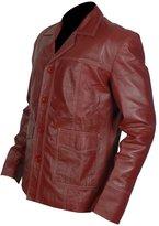 Gen1Leathers Fight Club Brad Pitt Tyler Durden Genuine Leather Jacket/Coat (L, )