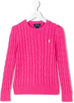 Ralph Lauren embroidered logo jumper - kids - Cotton - 5 yrs