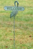 Crane Welcome Sign Garden Stake