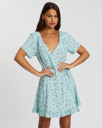 Rusty Free Soul Wrap Dress