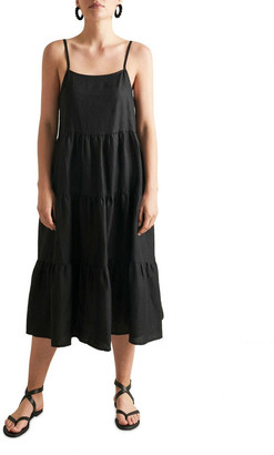 Seed Heritage Tiered Linen Dress