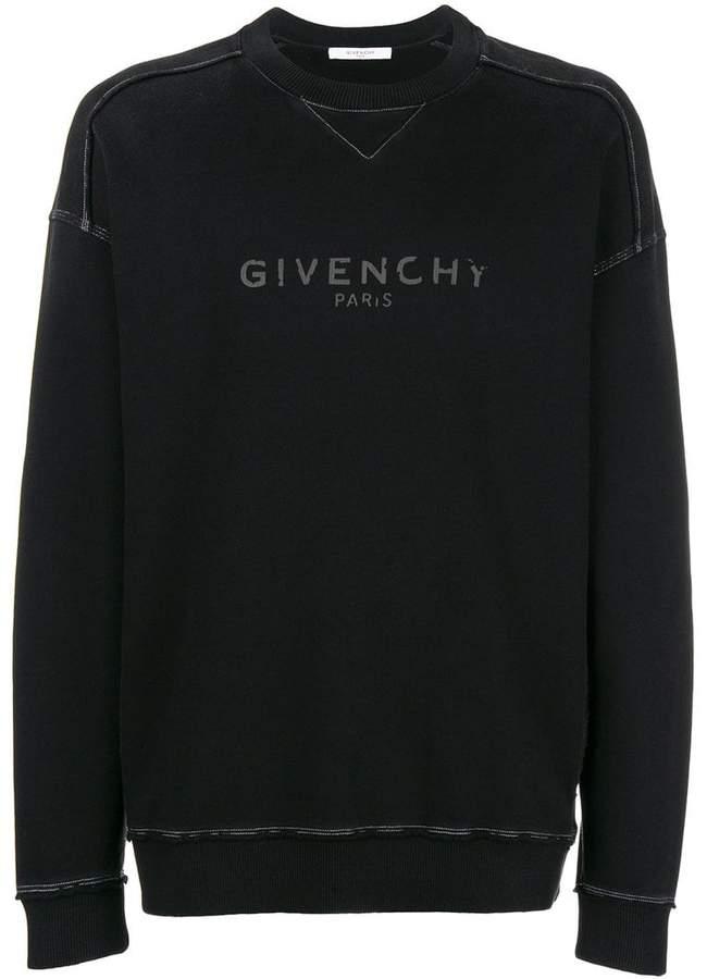 Givenchy blurred logo sweatshirt