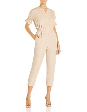 Joie Fritzie Smocked Cropped Jumpsuit