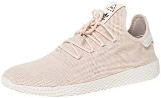 adidas Pharrell Williams x Light Cream Cotton Knit PW Tennis Hu Sneakers Size 46