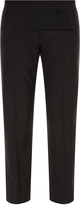 Balenciaga Button-front cropped trousers